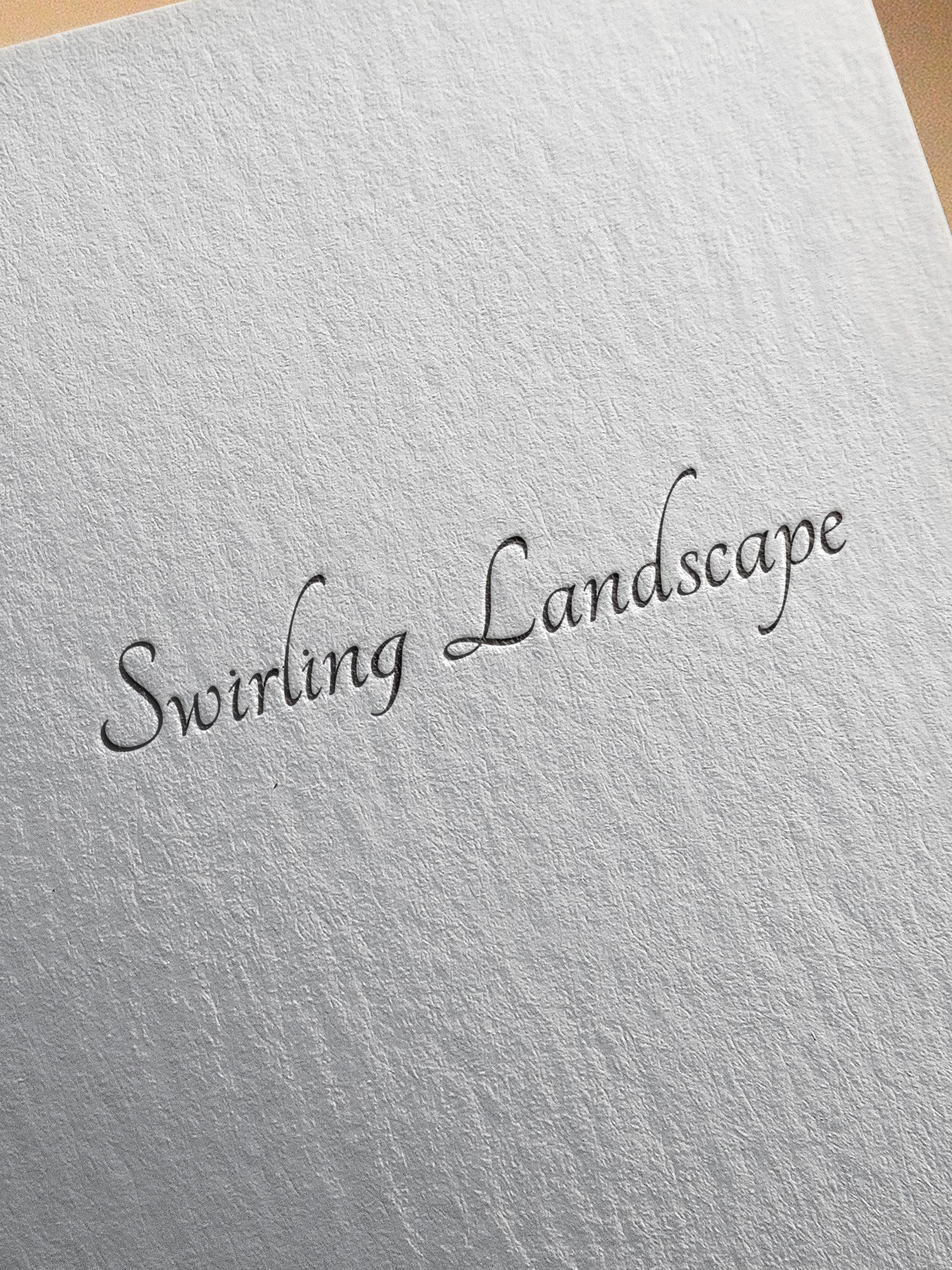 SWIRLING LANDSCAPE LOGO